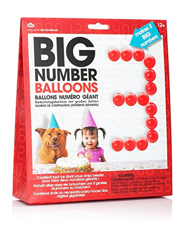 Big Number Birthday Balloons Giant Balloon Kit