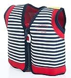 Kinder-Schwimmweste-4J-BWG-888-aus-Neopren-Blau-weiss-gestreift-Gre-16-21-kg-4-5-Jahre-Brustumfang-61-cm