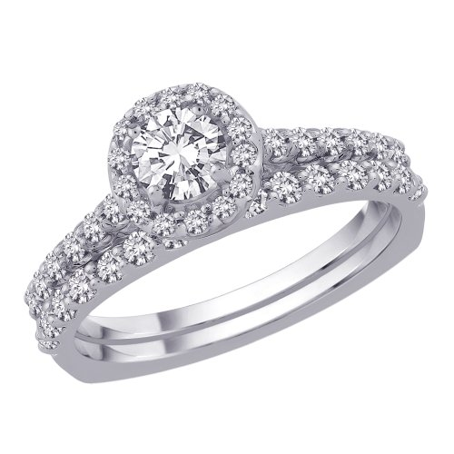 14K White Gold 3/4 ct. Diamond Bridal Engagement Set (G-H Color, SI2-I1 Clarity)
