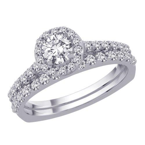 14K White Gold 3/4 ct. Diamond Bridal Engagement Set (G-H Color, SI2-I1 Clarity)