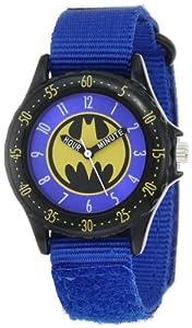 """Batman Kids' BAT5037 """"Time Teacher"""" Watch with Blue Canvas Band"""