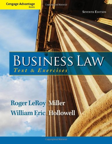 Cengage Advantage Books: Business Law: Text and Exercises (Business Advantage compare prices)