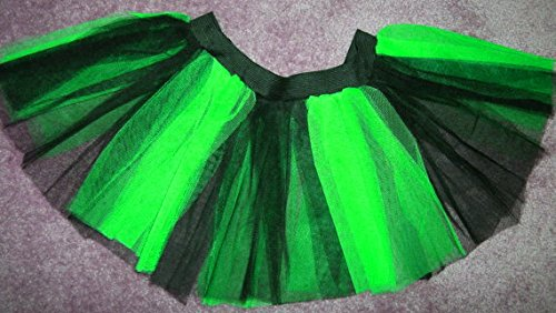 Neon Uv Green Black Stripe Tutu Skirt Party Mini Emo Dance Rave Hen Halloween Clubwear Christmas