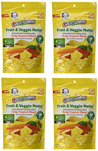 Gerber Graduates Fruit & Veggie Melts - Truly Tropical Blend, 1-Ounce (Pack of 4) - 1