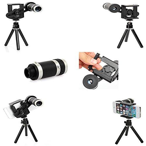 Voguecase 8x universale teleobiettivo lente obiettivo kit for Camera dei deputati telefono