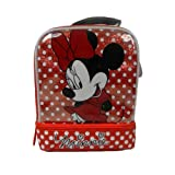 Disney Minnie Mouse Polka Dots Dual Compartment Children's School Lunchbox