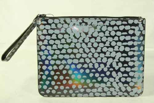 Marc By Marc Jacobs Marc Jacobs Wristlet Zip Pouch in Gunmetal Multi