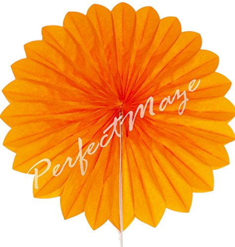 Perfectmaze Paper Fans Wedding Decoration Baby Shower Bridal Party Accessories (Orange, 10 inch) (Orange Fan Decorations compare prices)
