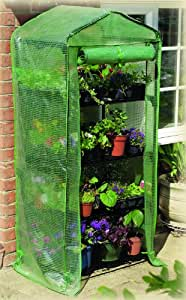 Gardman 4 tier greenhouse with heavy duty cover amazonca for Amazon gardman furniture covers