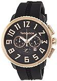 [テンデンス]Tendence 腕時計 GULLIVER 47 ブラック文字盤 ステンレス/ポリカーボネイト クロノグラフ デイト TY460013  【正規輸入品】