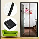 NEW Black Magic Mesh Hands-Free Screen Door Curtain Net Magnetic Anti Mosquito Bug Divider Curtain for living room 210*100 cm.