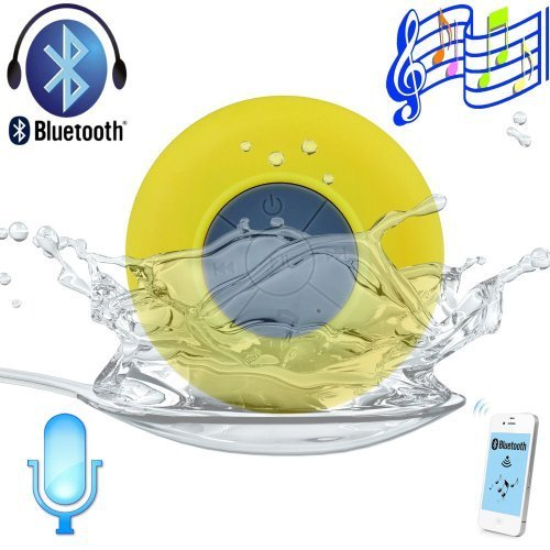 Afunta Bluetooth3.0 Waterproof Wireless Mini Speaker Shower Pool Car Handsfree With Mic Compatible With Apple Iphone 4/4S, Iphone5/5S, Ipad Ipod, Sumsang Galaxy S3 S4 S5, Note2 Note3, Tablet Pc And Any Bluetooth Devices And All Android Devices Support Blu