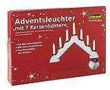 Idena 8582067 - Adventsbogen mit 7 Kerzenlichtern, weiß,...