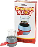 Fairly Odd Novelties Spin-The-Shot Spinning Shot Glass Drinking Novelty Game, Gray