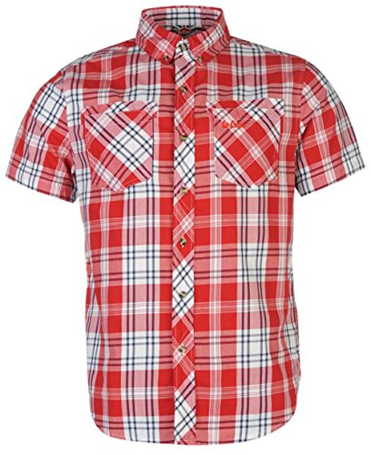 Lee Cooper -  Camicia Casual  - Uomo Red XX-Large
