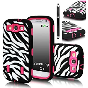 Print Hard Soft High Impact Armor Case Combo for Samsung Galaxy S3