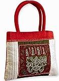 INDHA CRAFT Women's Handbag (White) (SFE306RW)