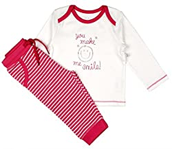 Babeez Baby Cotton Straight Fit Outfits & Clothing Sets (K1Bg002_3.Pink _Pink/White _3 - 6 Months)