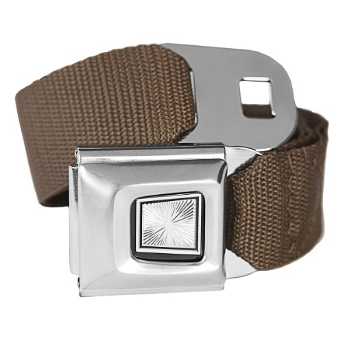 Brown Classic Seatbelt Buckle Fashion Belt