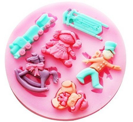 Allforhome Small Baby Set Silicone Sugar Resin Craft Diy Moulds Diy Gum Paste Flowers Cake Decorating Fondant Mold front-917866