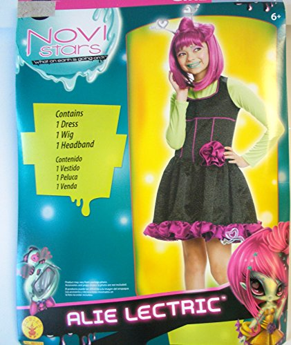 Novi Stars Alie Lectric Alien Dress Child Costume Dress 8-10 NIP