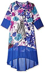 Rain and Rainbow Women's Shift Dress (4301-SS/02-01_Blue_X-Large)