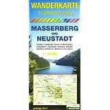 Wanderkarte Thüringer Wald Masserberg und Neustadt: Mit Ilmenau, Langewiesen, Gehren, Großbreitenbach, Stützerbach, Frauenwald, Altenfeld, Gießübel, ... Waffenrod, Limbach. Maßstab 1:35.000.