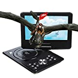 Portable 270 degree Swivel DVD Player LCD Screen Display Game USB TV SD SWIVEL & Flip VAG CD VCD MP3 MP4 USB Home Theater