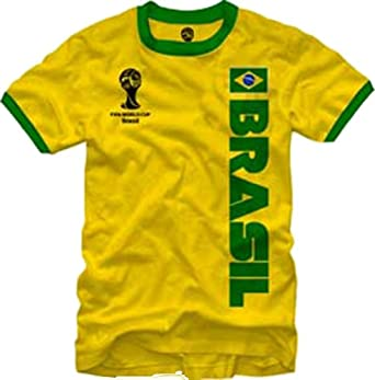 Buy FIFA World Cup Soccer - Brasil - Ringer T-Shirt by Fifth Sun
