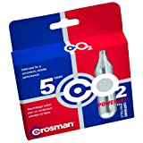 Cartuchos de CO2 Crosman 12 gramos, 5 cartuchos