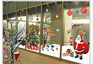 Tarmader Santa Claus Wall Stickers Decor