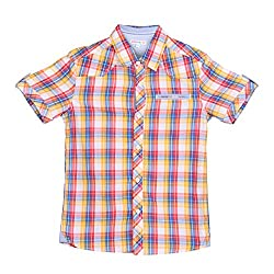 Poppers by Pantaloons Boys Shirt (205000005562251, Red, 9-10 Years)