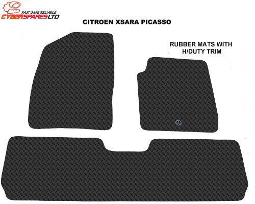 Citroen Xsara Picasso 2000-2010 Tailored Rubber Car Mats
