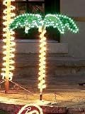 4.5' Tropical Lighted Holographic Rope Light Outdoor Palm Tree Yard Decoration