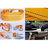 Best Quality Long Super Strong Emergency Heavy Duty Car Tow Cable 3 Ton Towing Strap Rope with Dual Forged Hooks + Wooden Engraved Keyring With Pep Ride Logo for Mitsubishi Pajero Sport