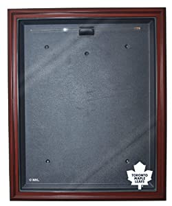 NHL Toronto Maple Leafs Removable Face Full Size Hockey Jersey Display - Mahogany with Museum Quality UV Upgrade