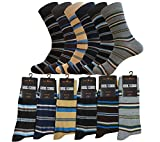 DRESS SOCKS FOR MEN SIZE 10-13, MIX COLOR COTTON BLEND 12-PAIRS