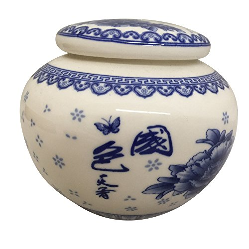 THY HOME Exquisite Oriental Ceramic Tea / Coffee Storage Jar Crock Canister (Ceramic Storage compare prices)