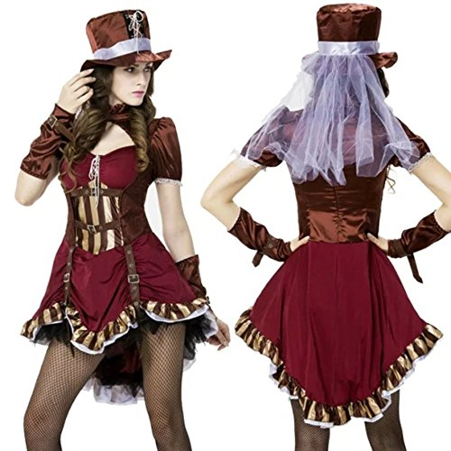 DoLoveY Halloween Costumes For Women West Cowboy Jazz Dancing Cosplay