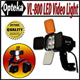 Opteka VL-800 Ultra High Power LED Video Light for Canon EOS 60Da, 60D, 7D, 5D, T4i, T3i, T3 and T2i Digital SLR Cameras