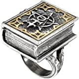 Dee's Book of Angel Magic Stash Opening Ring by Alchemy Gothic