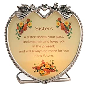 Sisters Candle Holder Inspirational Message