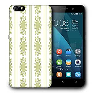 Snoogg Lite Green Pattern Printed Protective Phone Back Case Cover For Huawei Honor 4X