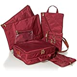 Burgundy Samantha Brown 6-piece Travel Survival Kit