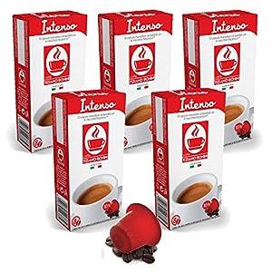 Buy Bonini Coffee Capsules, Intenso - Nespresso Compatible- 5-Pack (5x10 Capsules) from Caffè Tiziano Bonini