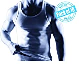 Joseph Abboud Men's 18 Pack Sleeveless Muscle Tank Top Cotton a Shirts