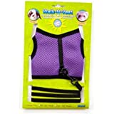 """Ware Nylon Walk-N-Vest Small Pet Harness and Leash, Large """"Color May Vary"""""""