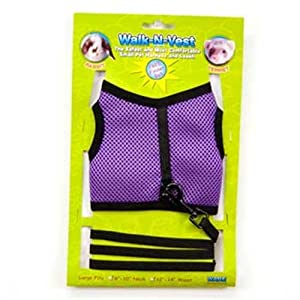 Ware Nylon Walk-N-Vest Small Pet Harness and Leash, Large