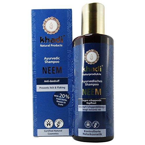Khadi Shampoo Neem Antiforfora Antibatterico Capelli Grassi