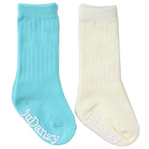 juDanzy knee high tube socks for boys, girls, baby, toddler & child (12-24 Months, Rickey Ribbed)